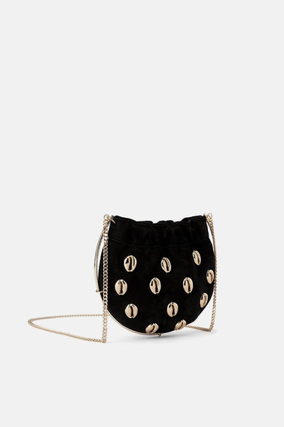 Leather Mini Crossbody Bag With Shells
