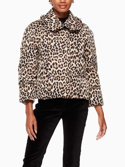 Leopard-Print Puffer Jacket