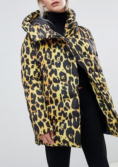 Leopard Longline Puffer