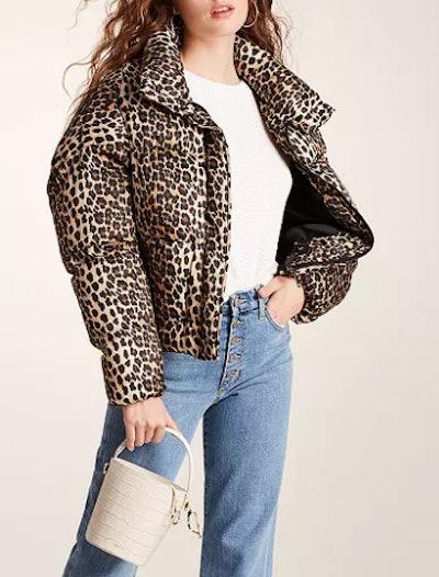 Paula Leopard-Print Puffer Coat