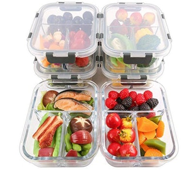 Mcirco Glass Meal Prep Containers (6 Pack)