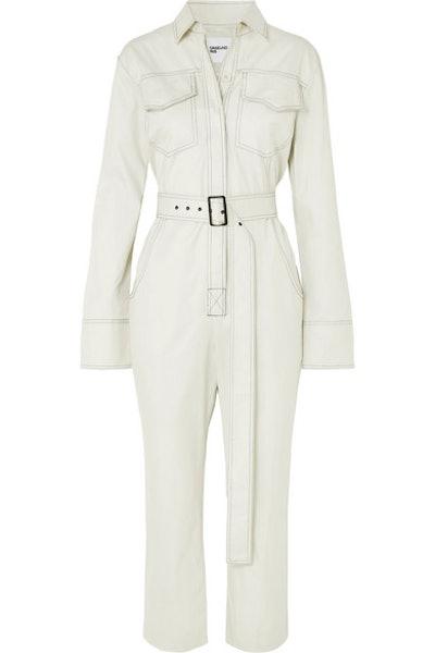 Workwear Belted Cotton-Gabardine Jumpsuit