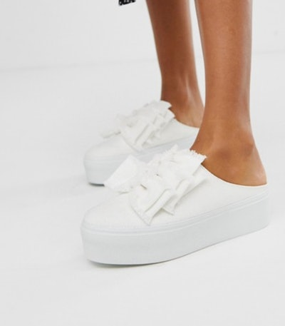 ASOS Durham bow mule trainers