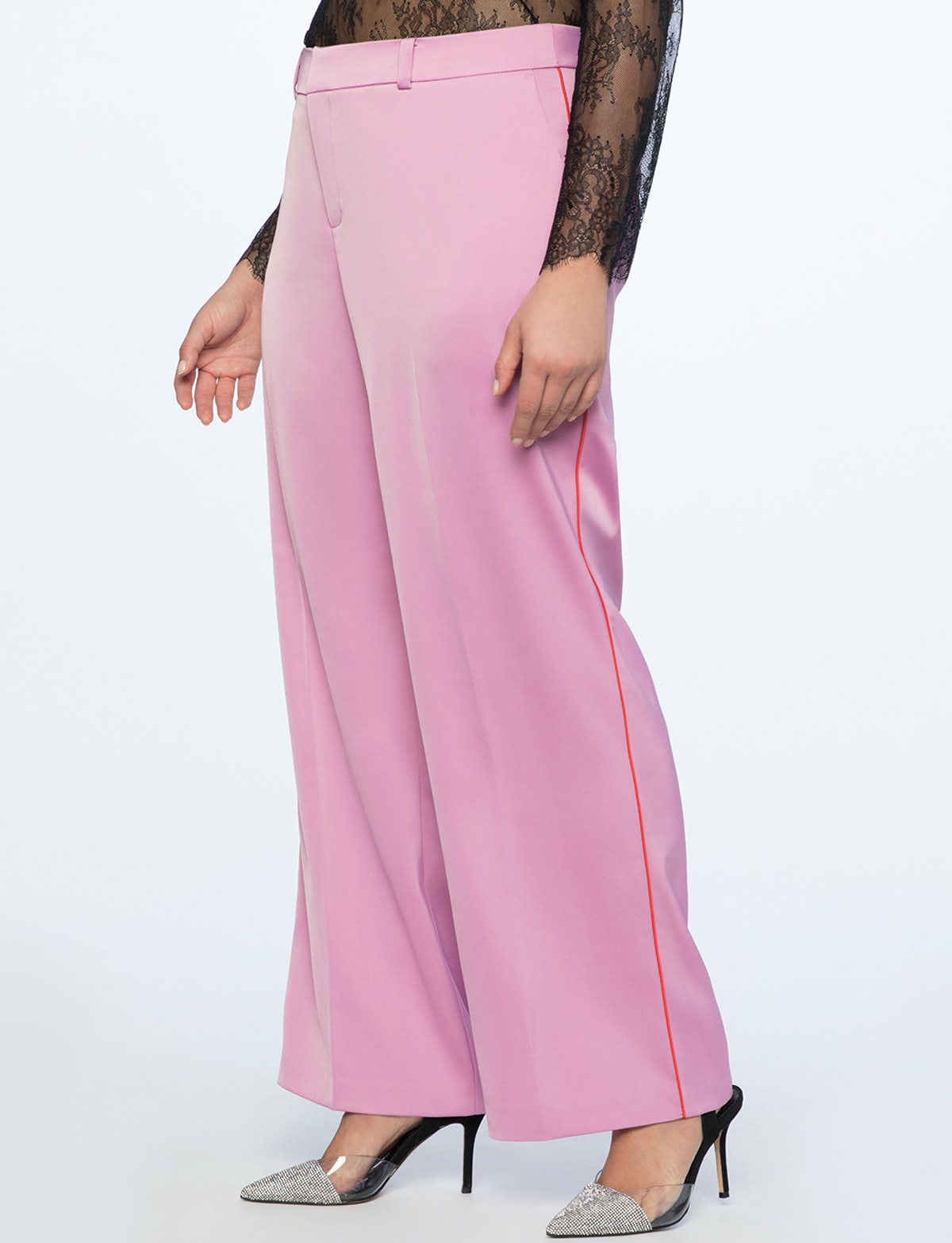 Wide Leg Trouser With Piping