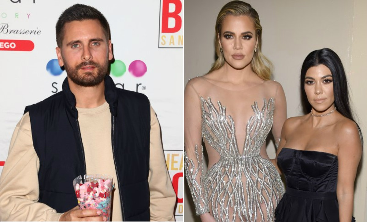 Scott Disick's Reaction To Road-Tripping With Khloe & Kourtney Kardashian Is So Hilarious