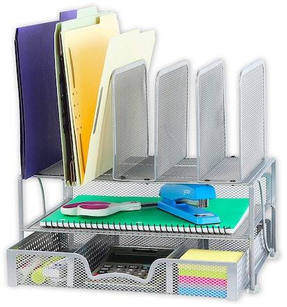 SimpleHouseware Mesh Desk Organizer