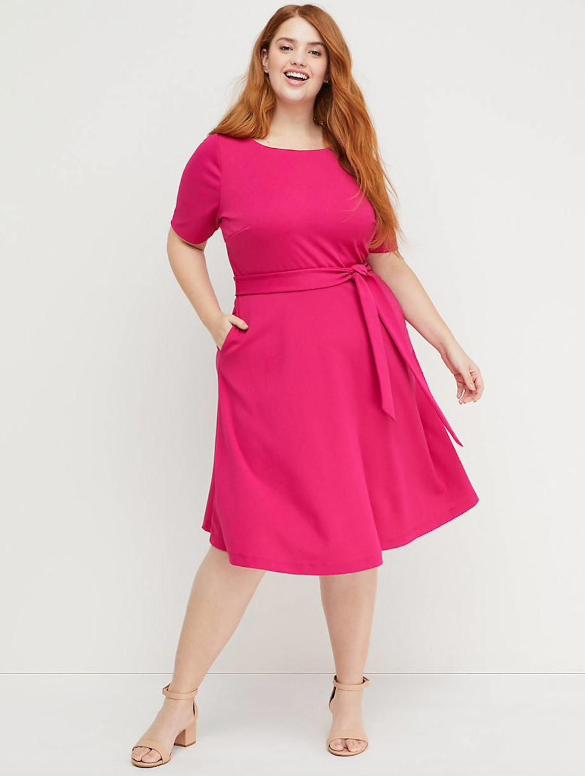 "Beauticurve Fit & Flare Dres in ""Magenta Cosmo"""