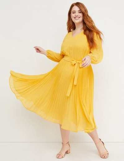 Beauticurve Pleated Midi Dress