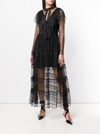 Polka Dot Sheer Dress