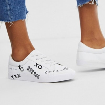 ASOS Dino logo lace up trainers