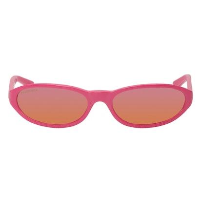 Pink Round Neo Sunglasses