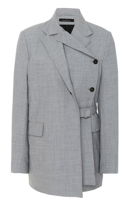 Grey Belted Blazer