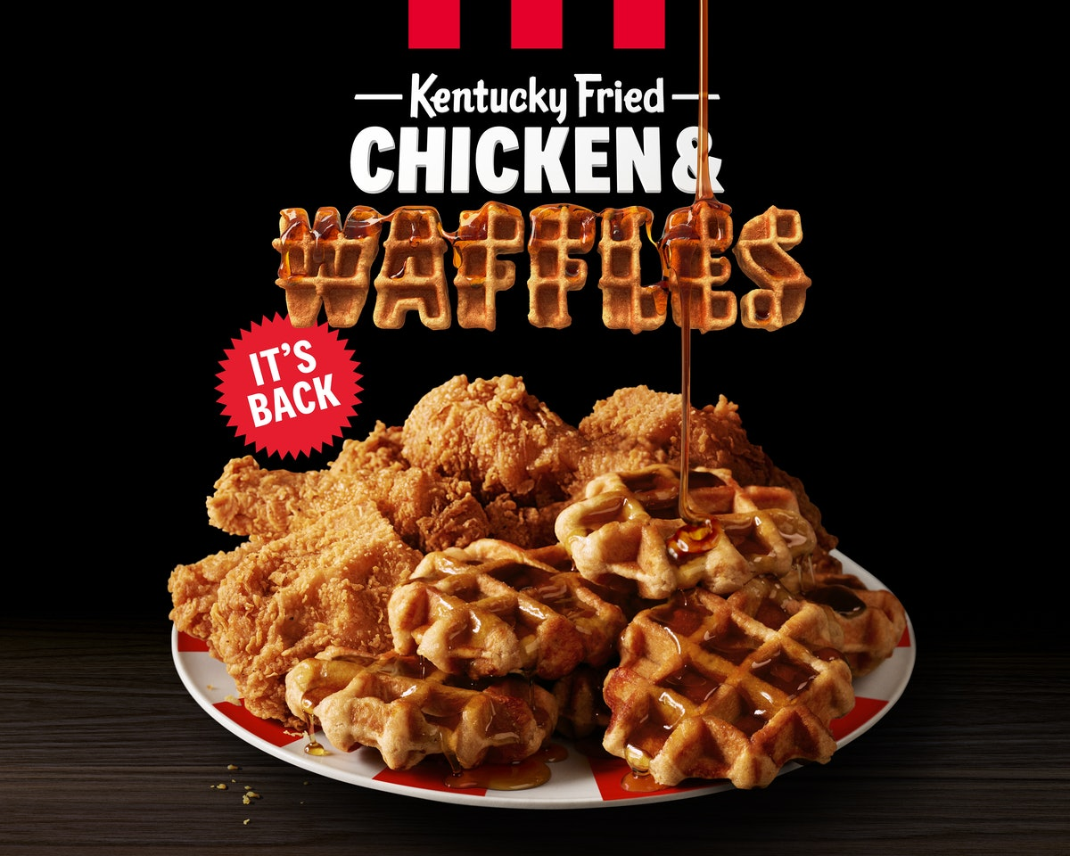 KFC's Chicken & Waffles Are Back On The Menu For A Limited Time