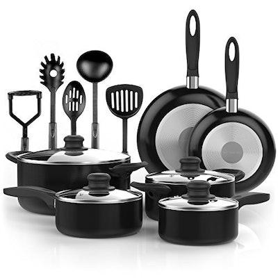 Vremi Nonstick Cookware Set (Set of 15)