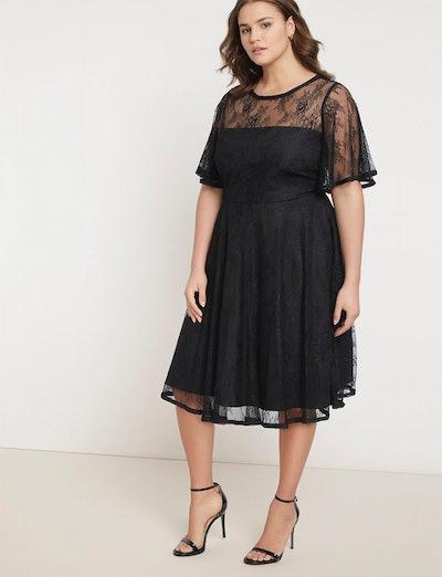 Jason Wu/ELOQUII Flutter Sleeve Lace Dress