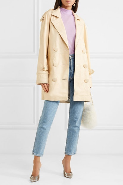 Leather Trench Coat