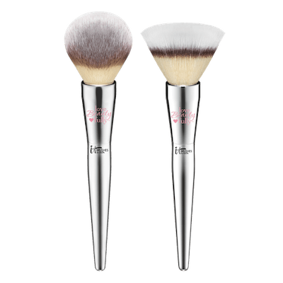 IT Cosmetics Brushes Love Beauty Fully Complexion Powder Brush #225 & Flawless Powder Brush #202