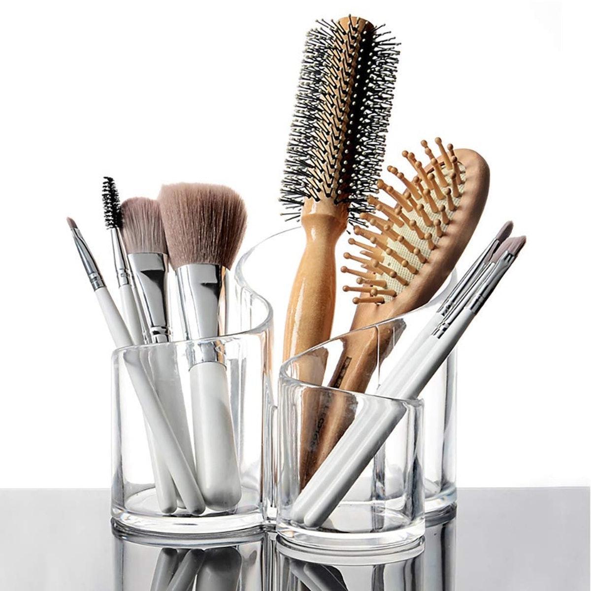 Bekith 3-Compartment Cosmetics Organizer