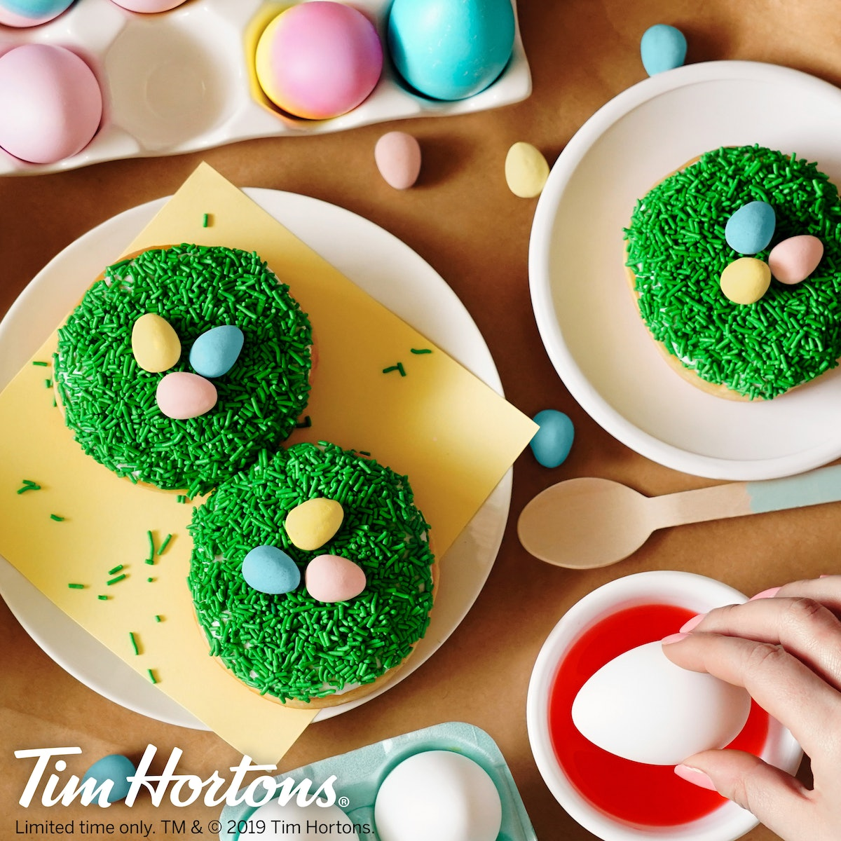 Tim Hortons Launched A Cadbury Mini Egg Donut For Easter & It Is So Precious