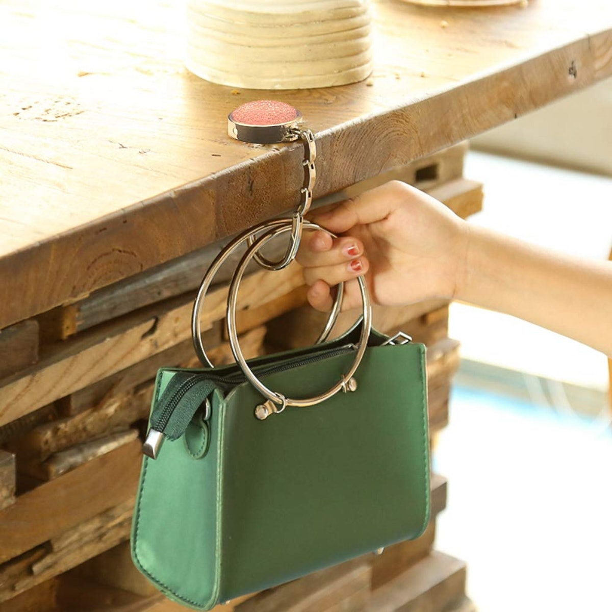 Milaloko Foldable Purse Hooks (3 Pack)