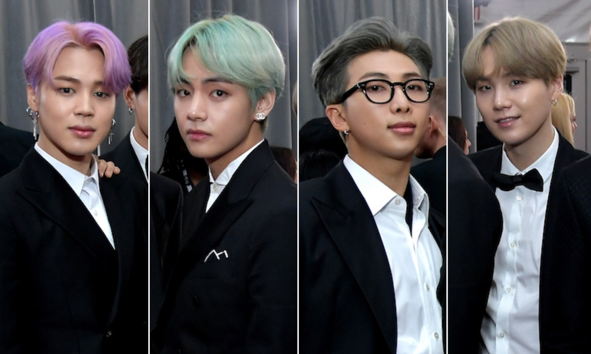 These Photos Of BTS' Jimin, V, RM, & Suga's New Hair Colors In Hong Kong Have ARMYs Weak