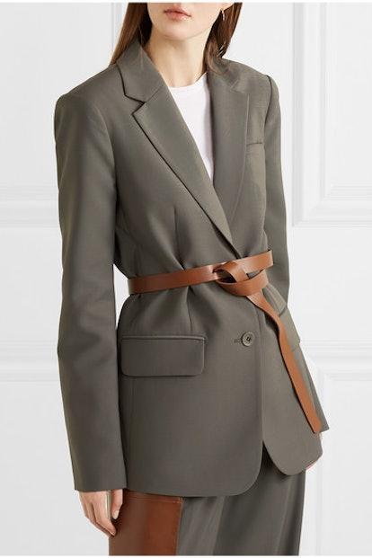 Tablier Belted Woven Blazer