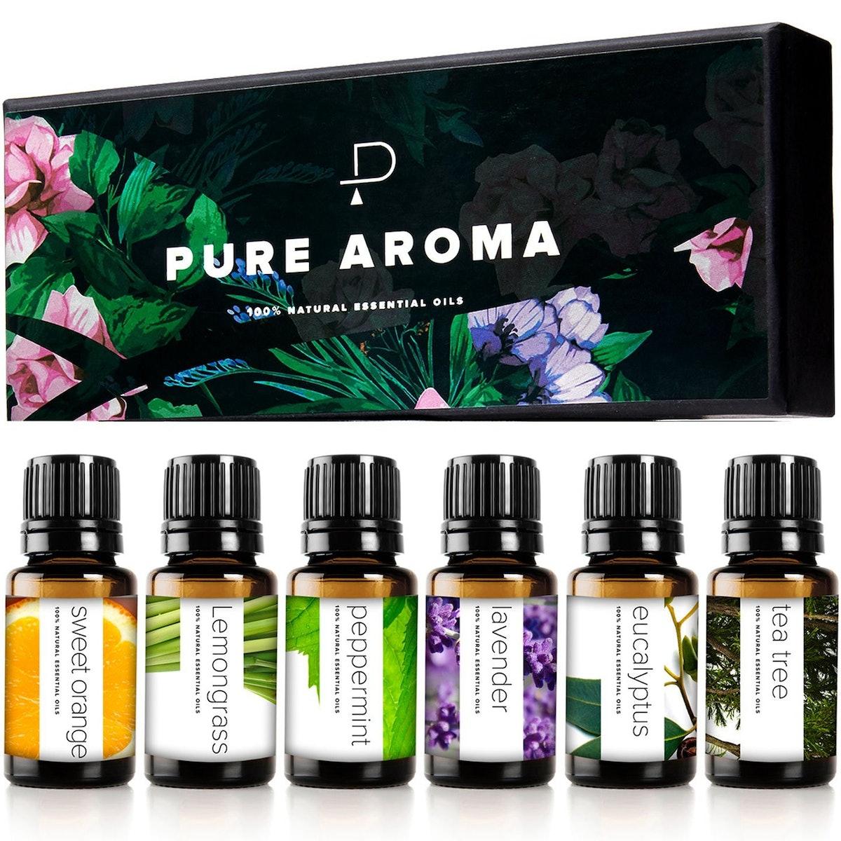 Pure Aroma Essential Oils Kit (Set of 6)