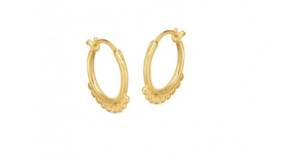 Lucy Williams Beaded Hinged Hoops