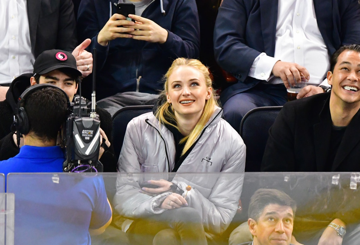 Sophie Turner Chugging Wine At An Ice Hockey Game Is The Only Thing You Need To See This Week
