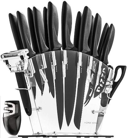 HomeHero Stainless Steel Knife Block Set