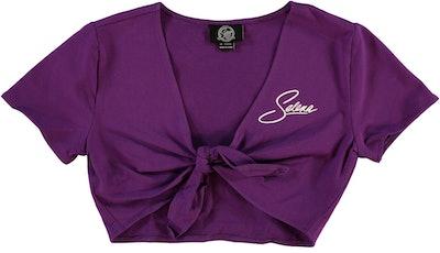 Selena Self-Tie Crop Top