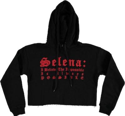 Selena Cropped Hoodie