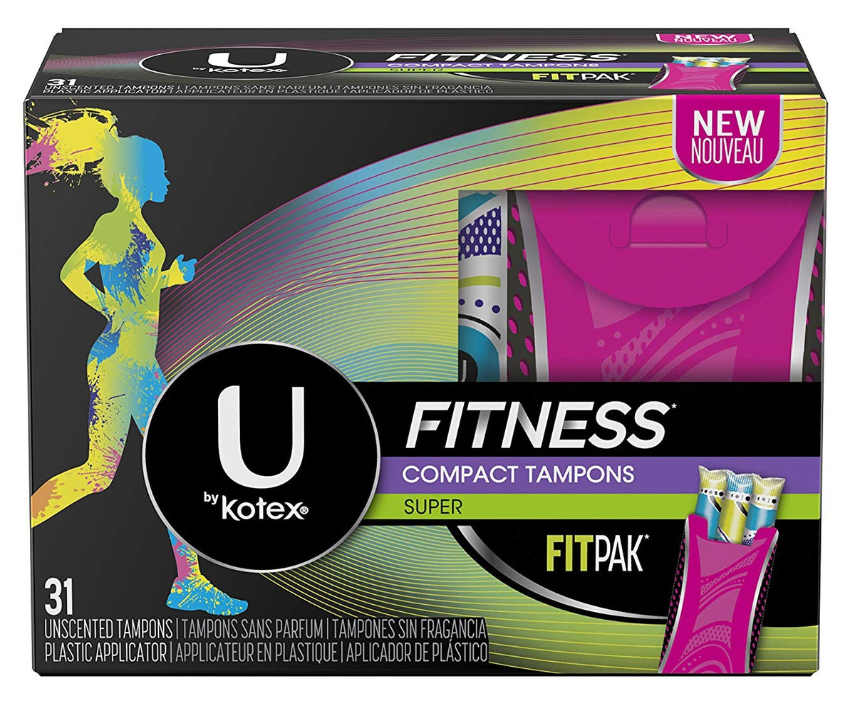 U by Kotex Unscented Fitness Tampons With Fit Pak (31-Count)