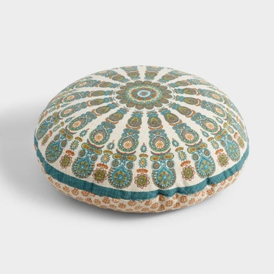 Round Medallion Floral Floor Cushion