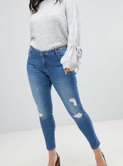Vero Moda Shape Up Distressed Skinny Jean