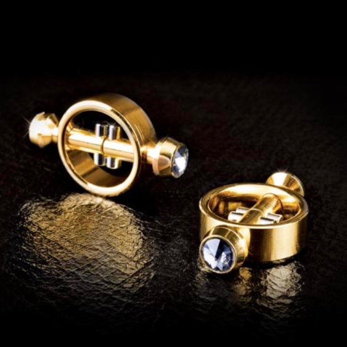 Gold Magnetic Nipple Clamps Set