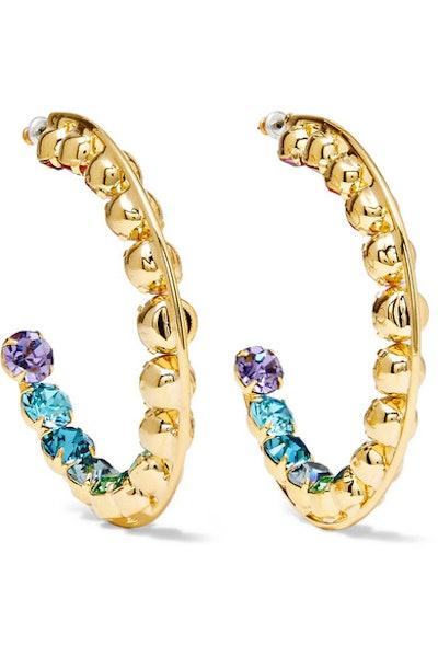 Spectrum Gold-Plated Swarovski Crystal Earrings