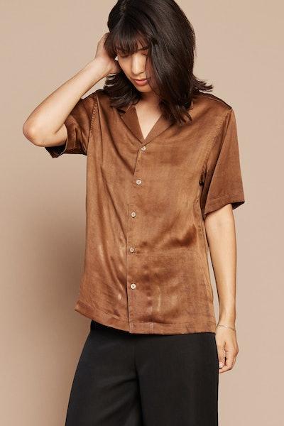 Brown Sugar Camp Collar Shirt