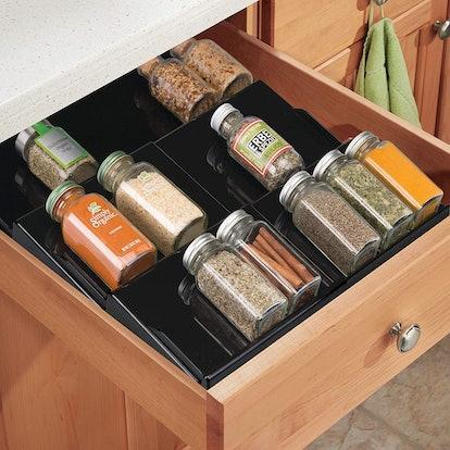 mDesign Adjustable Spice Organizer