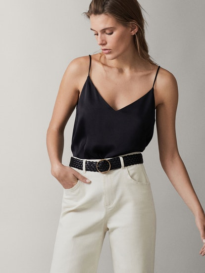 Top With Buttons, Black