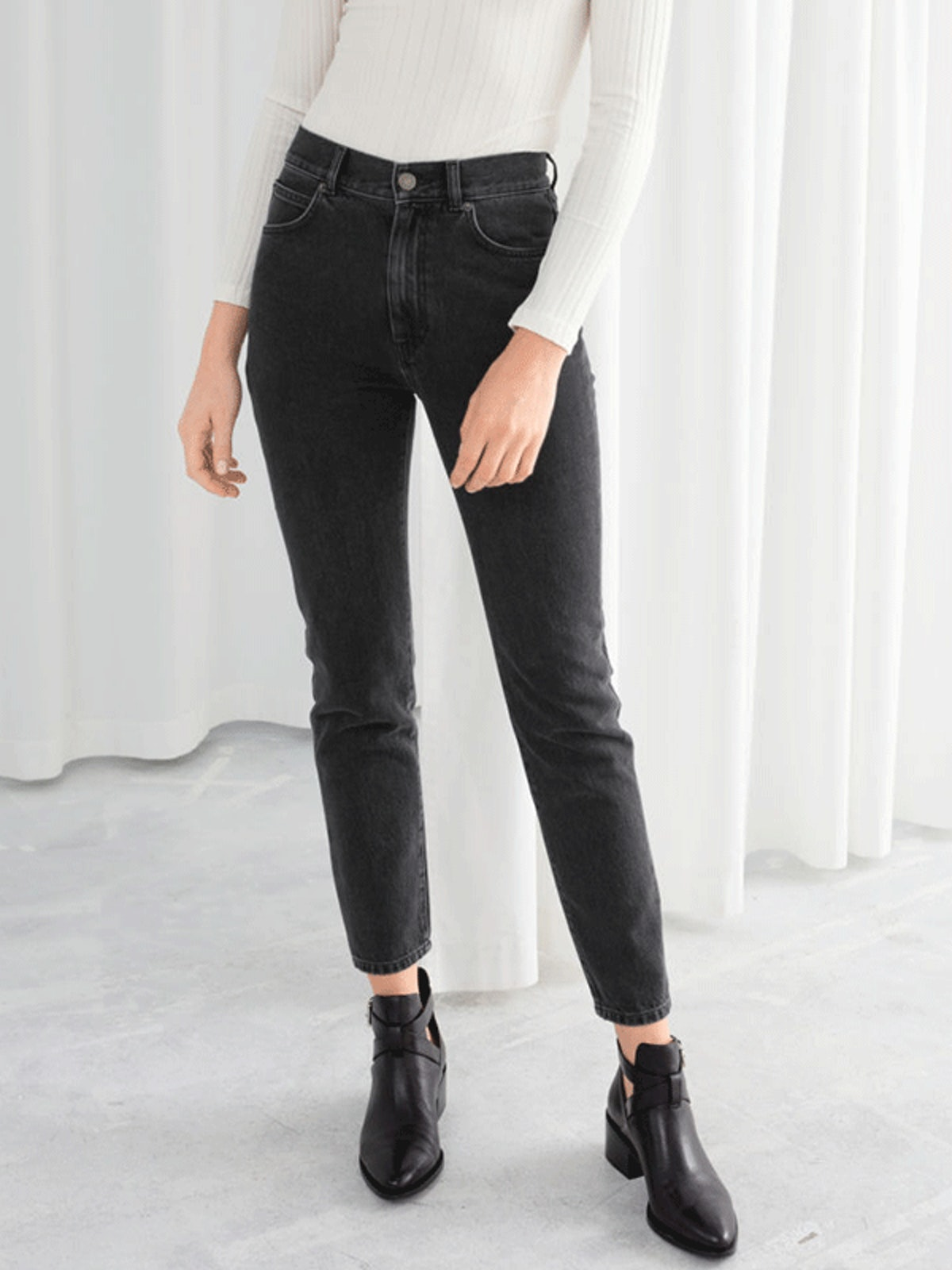 Slim High Rise Jeans