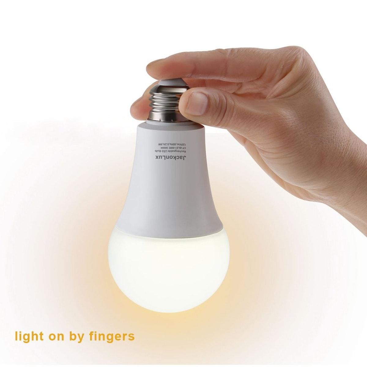 JackonLux Rechargeable Emergency Light Bulbs (2 Pack)
