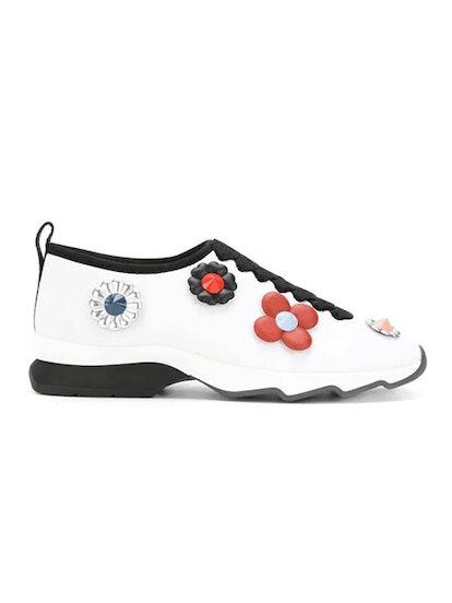 Flower Appliqué Sneakers