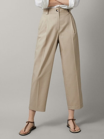 Darted Cropped Fit Chinos