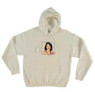 Selena Graphic White Hoodie