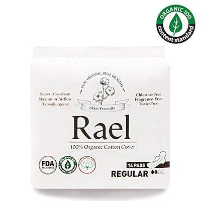 Rael Organic Cotton Menstrual Pads (14-Count)