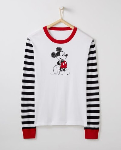 Adult Disney Mickey Mouse Long John Top In Organic Cotton