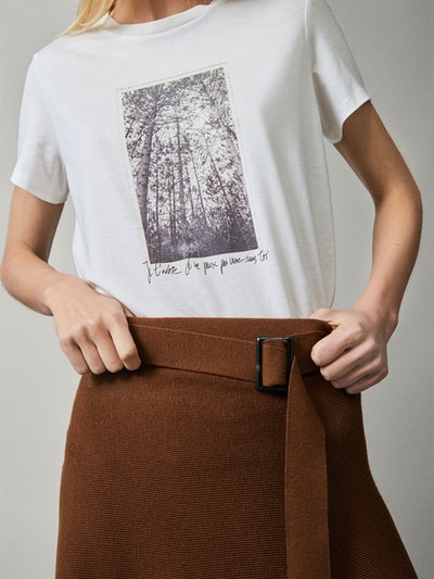 Photo Print Lyocell/Cotton T-shirt