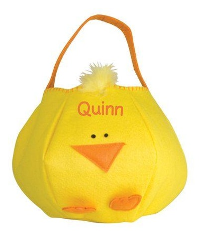 Chick Personalized Easter Basket