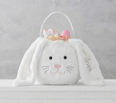 Long Eared Bunny Treat Buckets, White